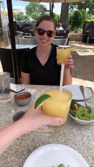 Surprise drinks with Amanda